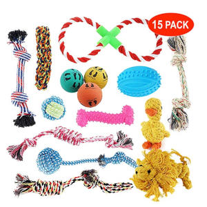 15 Pack Pet Dog Toy Set