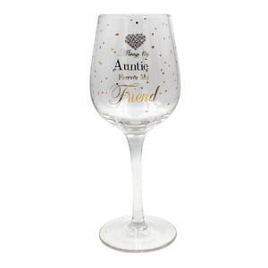 Auntie Wine Glass