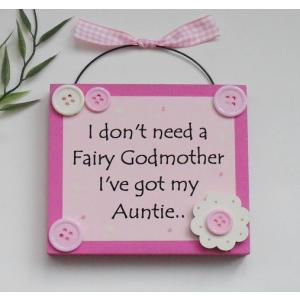 Auntie Keepsake Wooden Plaque