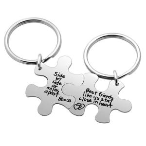 Best Friend Keychain Set