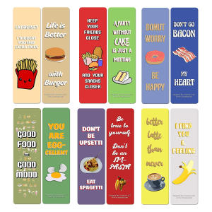 Funny Food Sayings Bookmarks