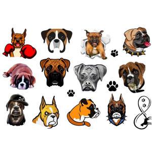 Boxer Dog Temporary Tattoos