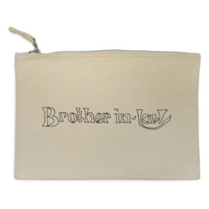 'Brother In Law' Canvas Clutch Bag