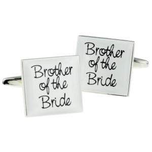 White Square Cufflinks
