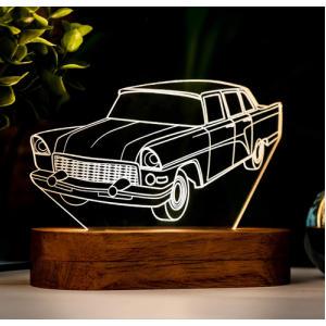 Car Shaped 3D Night Light