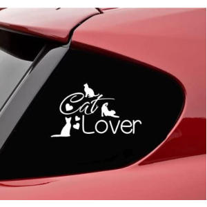 Cat Lover Vinyl Sticker