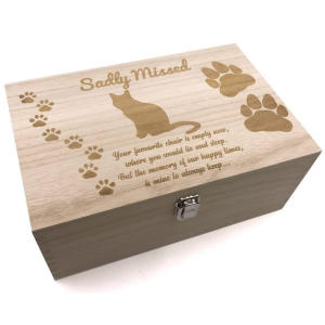 Cat Memory Keepsake Box