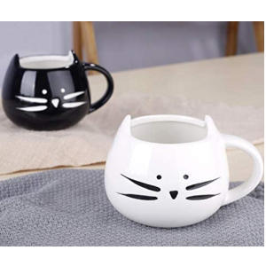 Cat Mug with Spoons