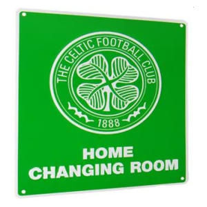 Celtic FC Changing Room Sign
