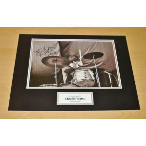 Charlie Watts Queen Drummer Signed Photo