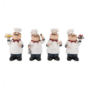 4pcs Resin Chef Figures