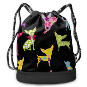 Chihuahua Dog Drawstring Backpack