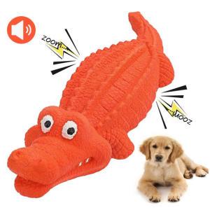 Indestructible Squeaky Crocodile Toy