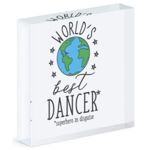 World's Best Dancer Acrylic Block Photo Frame