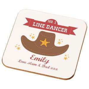 Number 1 Line Dancer Coaster
