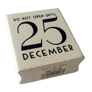 Do Not Open Until 25 December Rubber Stamp