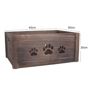 Paw Shaped Cutout Dog Toys Chest