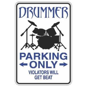 Aluminum Drummer Metal Sign