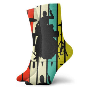Personalized Drummer Silhouette Socks