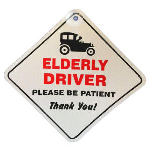 Elderly Driver Window Sign