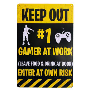 Gaming Tin Door Sign