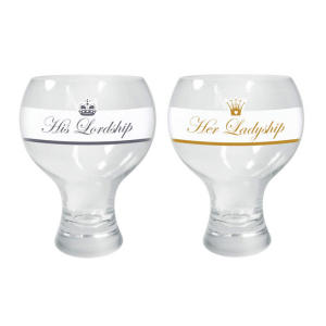 Lord and Lady Gin Glasses