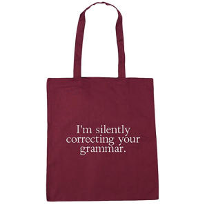 Grammar Tote Shopping Gym Beach Bag