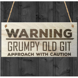 Grumpy Old Git Novelty Plaque