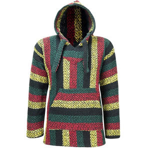 Hippie Hoodie Mexican Poncho