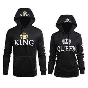 King Queen Matching Hoodies