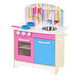 Kids Wooden Kitchen Pretend Play