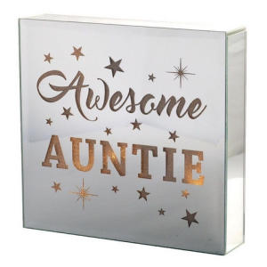 Light Up Mirrored Wall Plaque