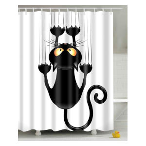 Novelty Cat Print Showercurtain