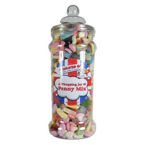 Whopping Penny Mix Jar of Retro Sweets