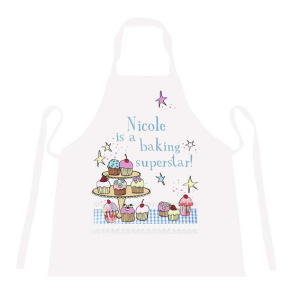 Personalised A Baking Superstar Apron