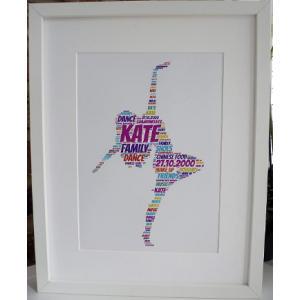Personalised Dancer Unframed Print