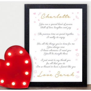 Best Friend Keepsake Poem