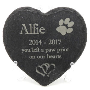 Pet Slate Memorial Plaque