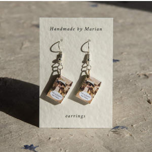 Pride and Prejudice Handmade Miniature Book Earrings