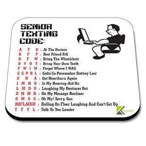 Senior Texting Code Coaster