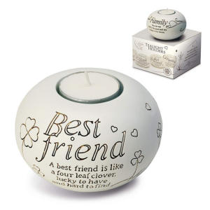 With Sentiment Tealight Holder