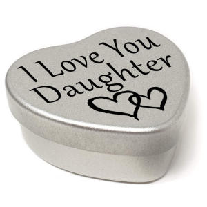 Daughter Silver Heart Tin
