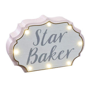 Star Baker Wooden LED Light Block