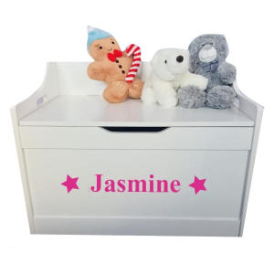 Personalised Wooden Toy Storage Box
