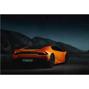 Orange Super Car Poster Art