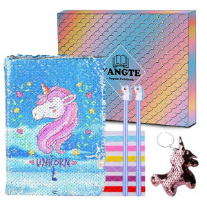 Unicorn Notebook Magic Sequin Journal