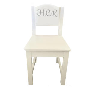 Personalised White Wooden Chair