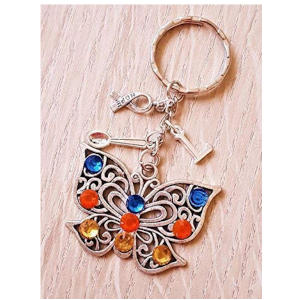 Autism Awareness Butterfly Keyring