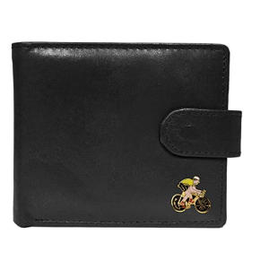 Black Leather Cyclist Wallet