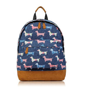 Childrens Sausage Dog Print Rucksack